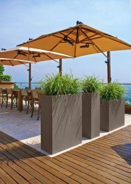 jardini re rectangulaire troit en r sine. Black Bedroom Furniture Sets. Home Design Ideas