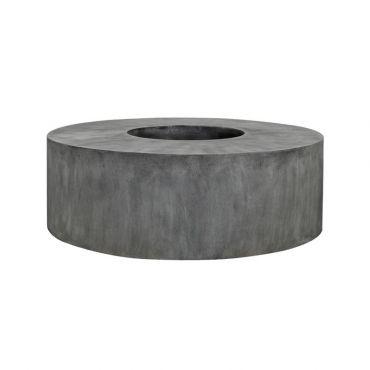 pots et banc en forme de rouleau en m lange pierre et. Black Bedroom Furniture Sets. Home Design Ideas