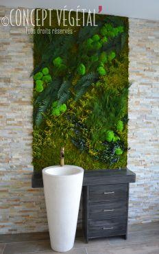 tableau v g tal sans encadrement plante stabilis e ou artificielle murs v g taux sur mesure. Black Bedroom Furniture Sets. Home Design Ideas
