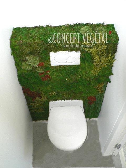 Rendre un lieu anodin en une pi ce remarquable par une touche de d coration v - Deco toilettes nature ...