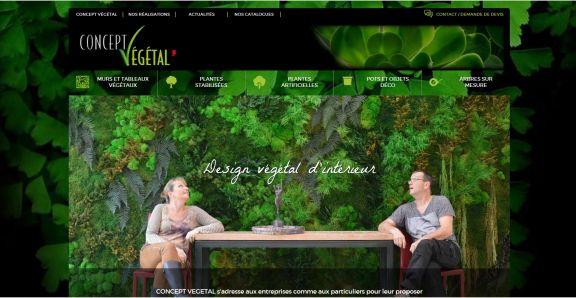 Leafting de Concept Végétal