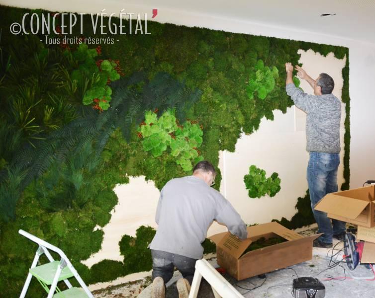 arbres et plantes fleurs et bouquets murs et tableaux un ensemble de v g taux stabilis s pour. Black Bedroom Furniture Sets. Home Design Ideas
