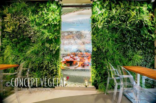 Murs artificiels verticaux artificiels et semi artificielles sans entretien de couleur dominante - Mur vegetal exterieur sans entretien ...