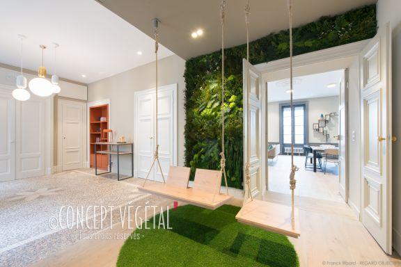 Idées de décoration végétale par les plantes et murs de végétaux ...